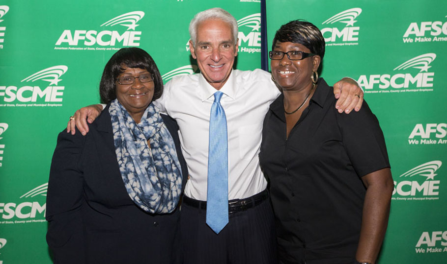 Jeannette Wynn, Charlie Crist and Deloris Wells